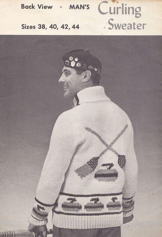 Curling Sweater Knitting Pattern