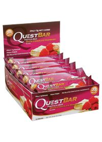 Quest Bar White Chocolate Raspberry by Quest Nutrition - Buy Quest Bar White Chocolate Raspberry 12 Bars at