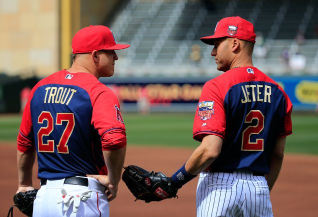 Derek Jeter And Mike Trout