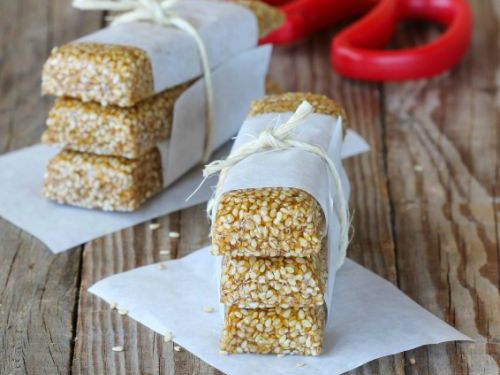 Read our delicious recipe for Homemade Sesame Seed Bars, a recipe from The Healthy Mummy, which is a safe way to lose weight after having a baby.