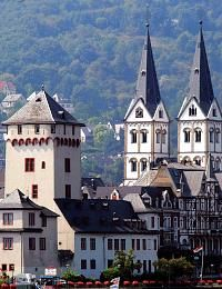 Boppard, Germany UNESCO World Heritage area of the Rhine