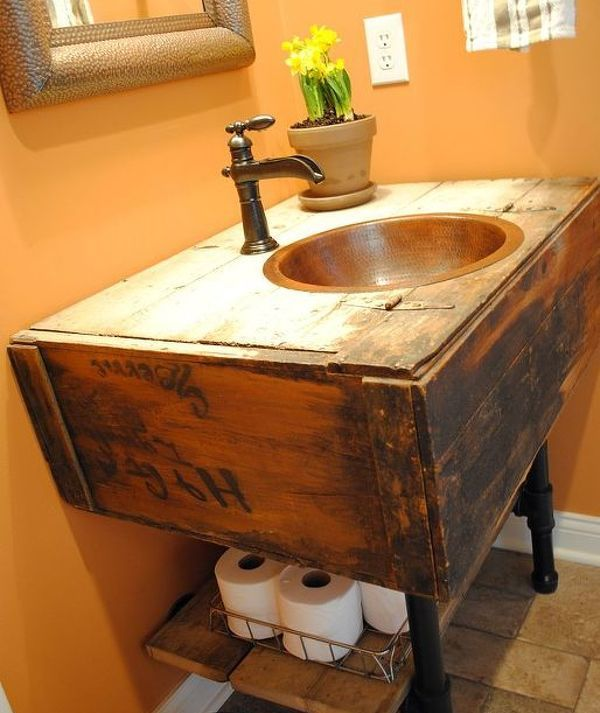 Low Cost Ways To Replace Or Redo A Hideous Bathroom Vanity Vanities Change And Bathroom Vanities