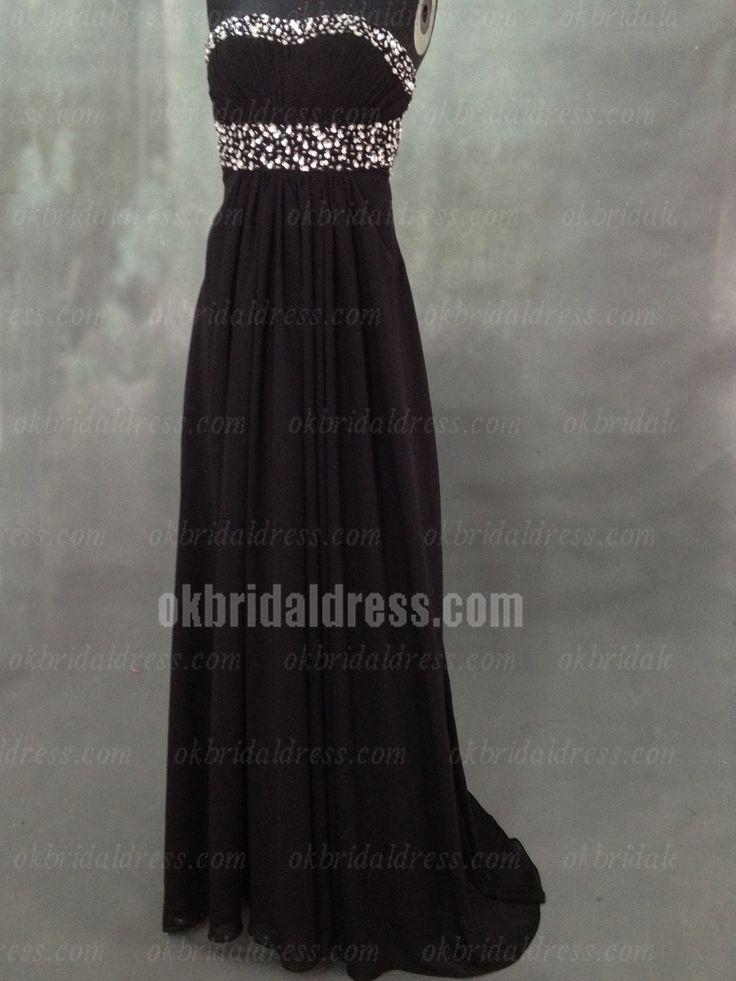 long cheap popular black elegant bridesmaid dress | Cheap bridesmaid dresses Sale
