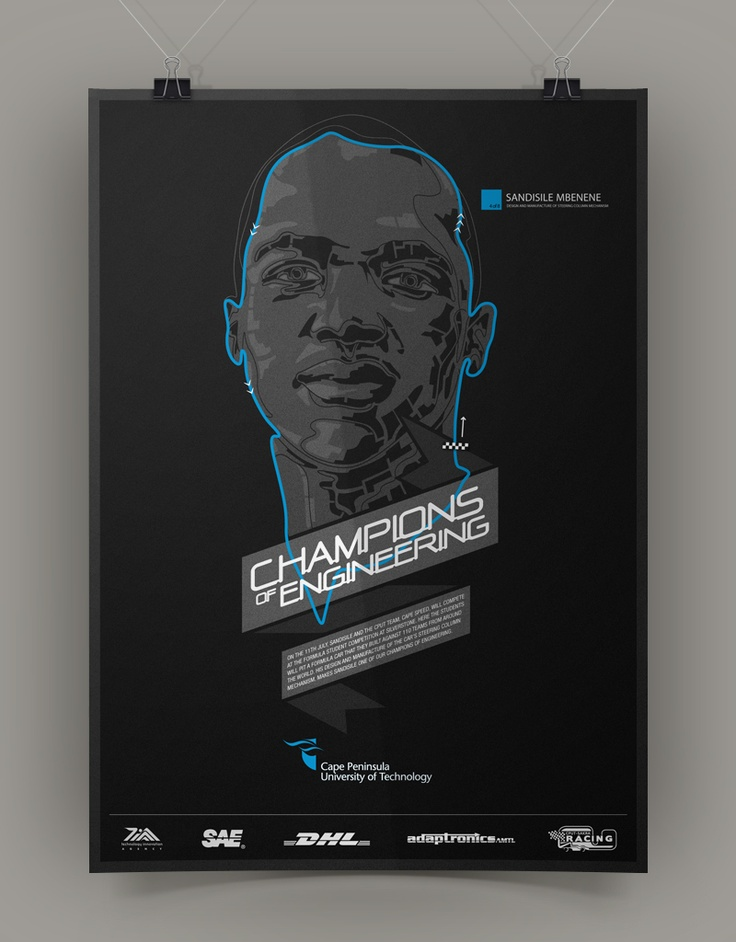 Poster design for CPUT Champions of Engineering Campaign (1 of 8)