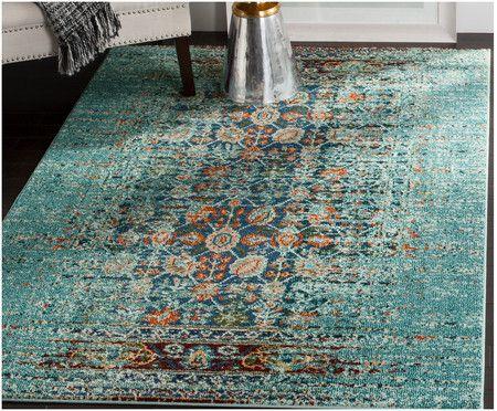 Teppich Darold, Türkis, Mehrfarbig