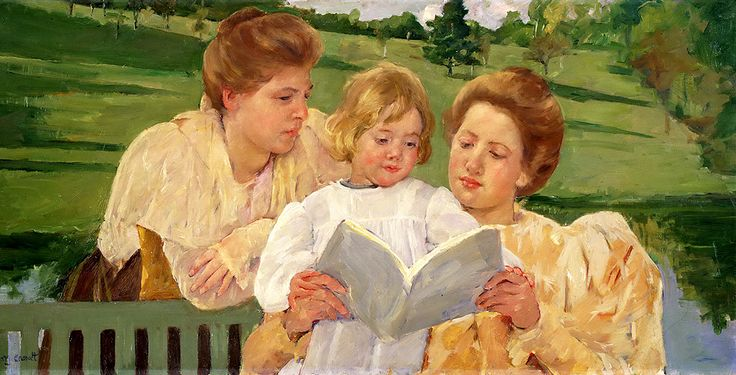 "Cassatt Mary - Family Group Reading 1898 Phil  (from <a href=""http://www.oldpainters.org/picture.php?/51005/category/16491""></a>)"