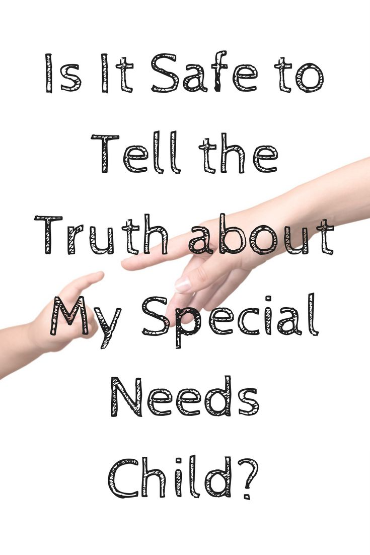 When parenting a special needs child, when do you stop being positive and start telling the truth about what his or her life is like? Advice from one mother.  via @midlifeblv