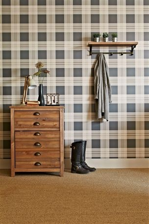 Buy Newington Check Wallpaper from the Next UK online shop