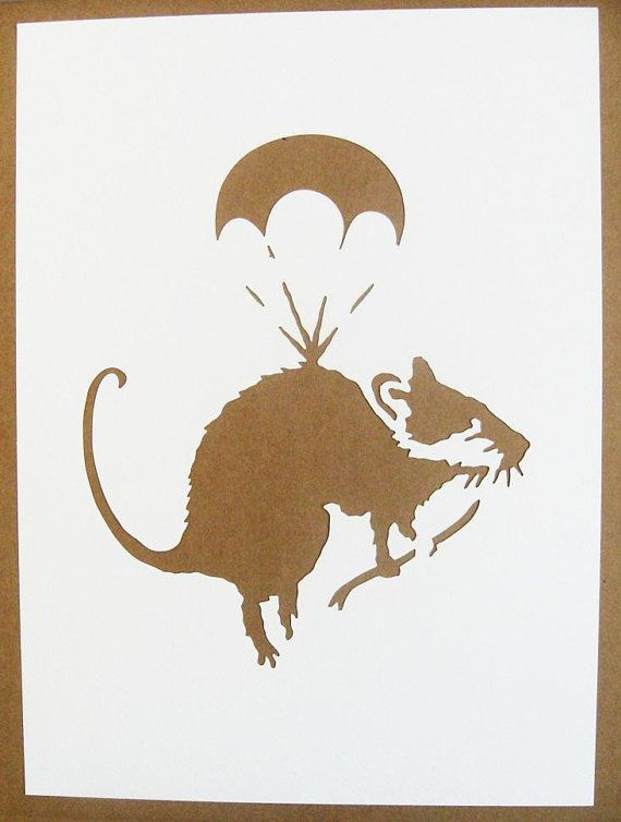 BANKSY Rats Stencils Set Of Five Photographer Sawing by existencil, $30.00