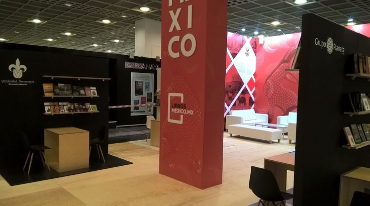 We continue to work on behalf of the Secretariat de Cultura de Mexico. Here's their stand at the Frankfurt Book Fair