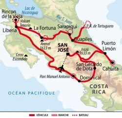 Itiéraire Costa Rica