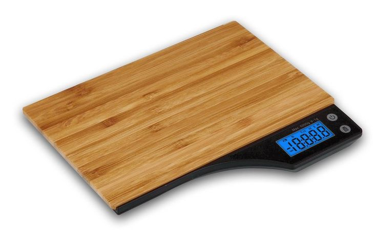 5kg Bamboo Wooden Digital LCD Electronic Kitchen Cooking Food Weighing Scales UK