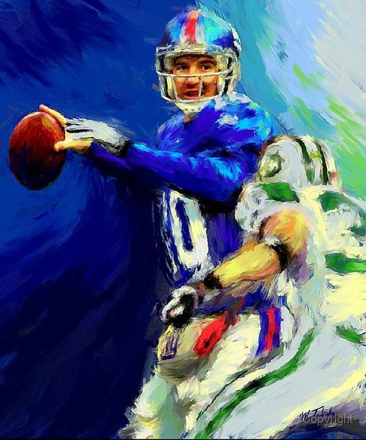 Eli Manning- Leader of Giants by Mark Trubisky