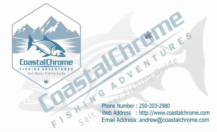 Our latest #business card #design for Coastal Chrome Fishing Adventures in #CampbellRiver http://kervinmarketing.com/coastal-chrome-fishing-adventures-b