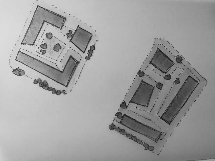 Woning blok ontwerp stedenbouw