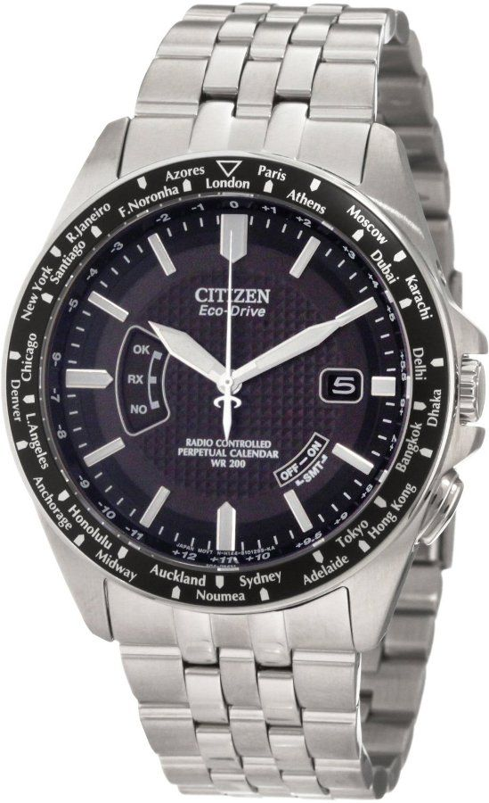 245 Citizen Eco Drive World Perpetual At Mens Watch