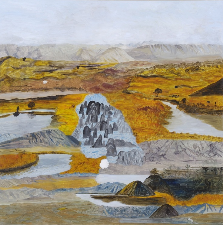 Barbara Tuck, 2010, O Tu Wharekai, Oil on board, 750 x 750mm