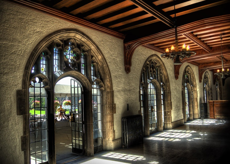 Hart House at University of Toronto...entrance to patio & ceremony location