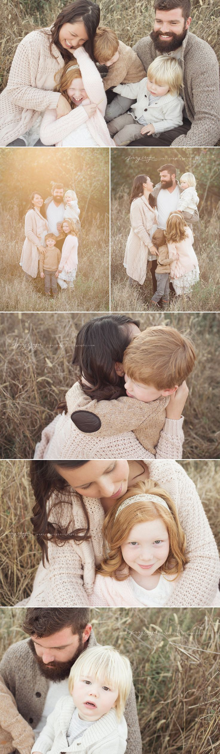 What to Wear | Family Session | Neutrals and cozy textures (Images by Jenny Cruger Photography)