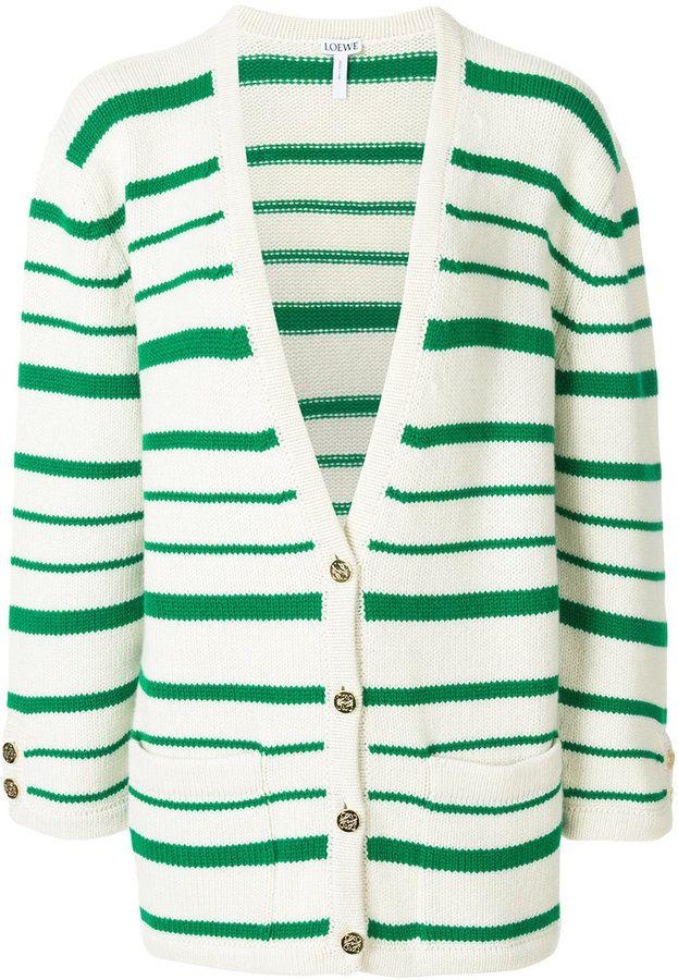 Loewe cashmere stripe cardigan