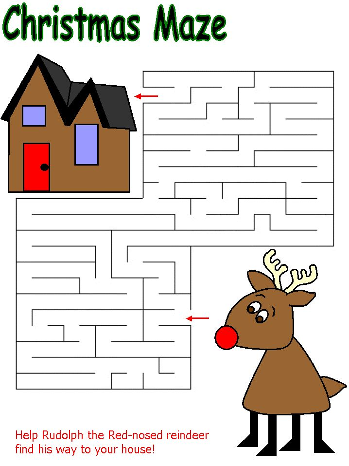Christmas Maze Christmas Decor Amp Activities Pinterest