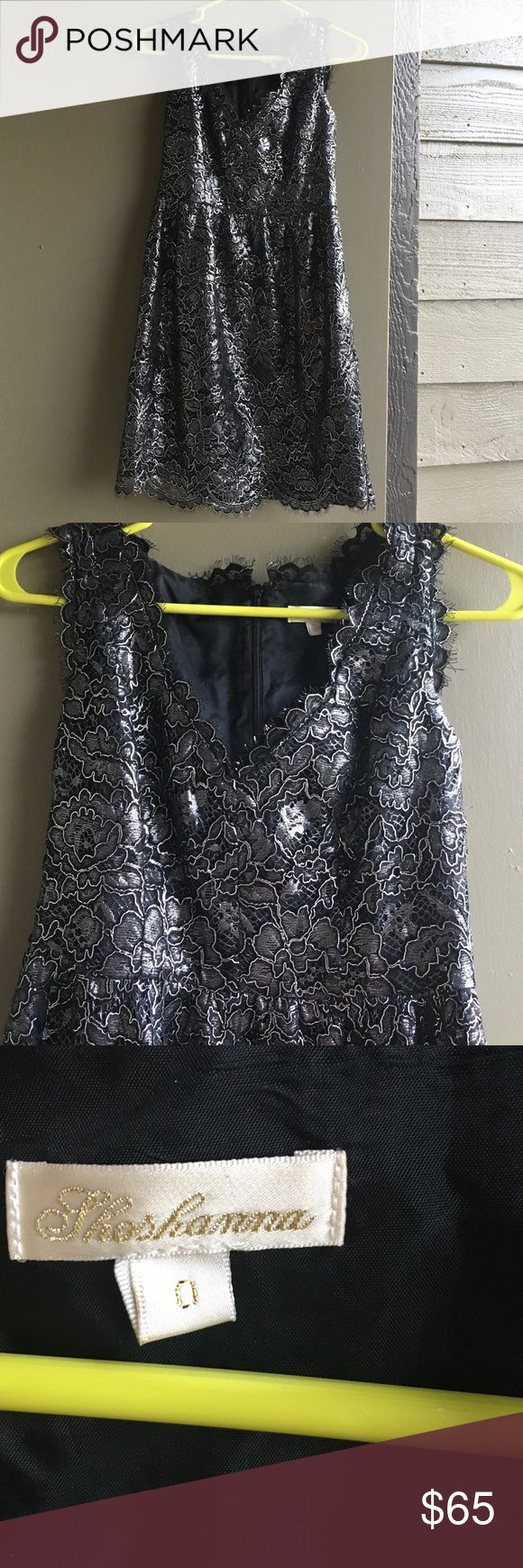 Metallic mini dress! Size 0! Perfect for New Years!! Bought at Von Mur worn once! shoshanna  Dresses Mini