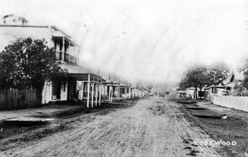 Looking along John Street Rosewood ca. 1910