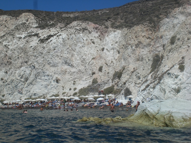 The white (and crowded) beach