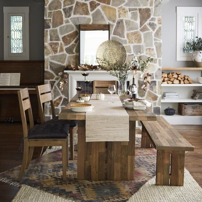Reclaimed Pine Nolan Dining Furniture Collection V2 Dining