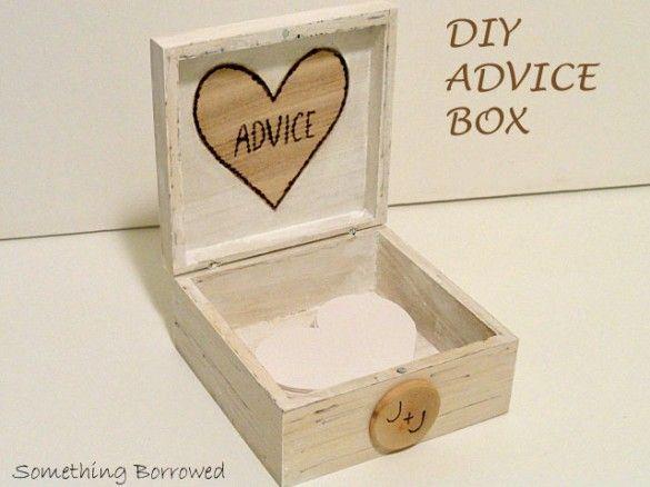DIY Wedding Advice Box
