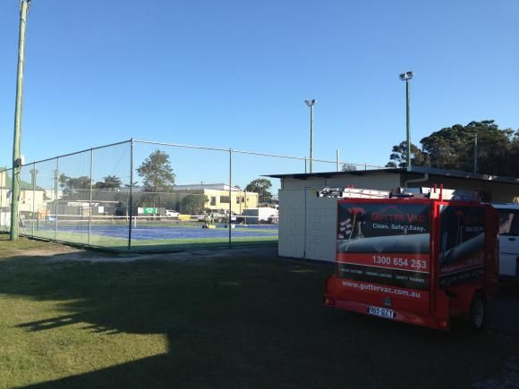 An image of Gutter-Vac Northern Rivers helping out the community!  Gutter-Vac Northern Rivers cleaned the Pottsville tennis club house, to show them we appreciate all their hard work!    Find out more about Gutter-Vac Northern Rivers here https://www.guttervac.com.au/gutter-vac-northern-rivers