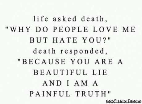 Looking back to your memories, which best describes your way of life? Is your way of life like a painful truth? Or like a beautiful lie?  https://pinterest.com/pin/725712927428345810/?source_app=android  #Life_Is_A_Painful_Truth #Death_Is_A_Beautiful_Lie