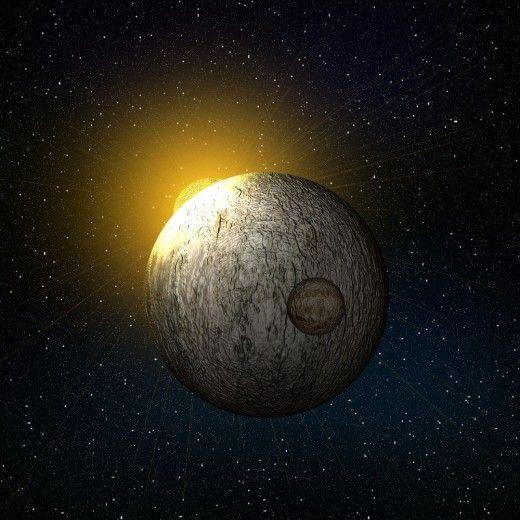 Sunrising over planet