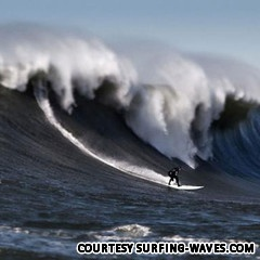 Mavericks California surfing. Insane people doing insane things. I'd love to watch surfers catch mavericks.