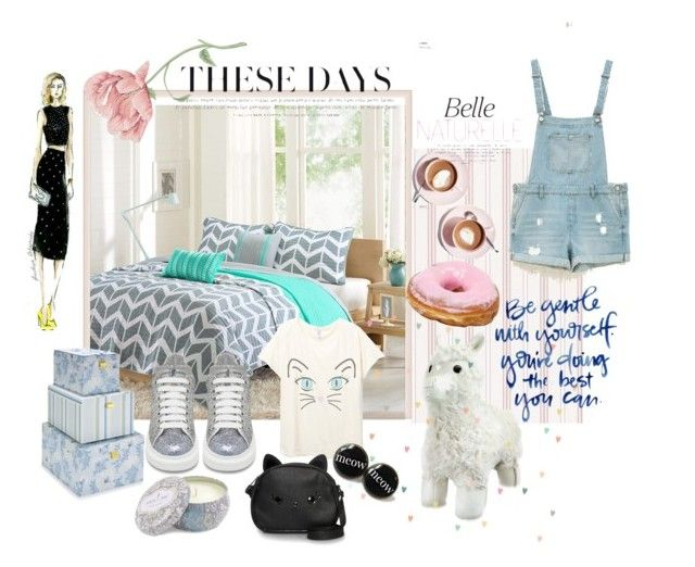 """These Days"" by katherine-chocolate on Polyvore featuring Intelligent Design, Laura Ashley, Martha Stewart, Bershka, Alexander McQueen and Loungefly"