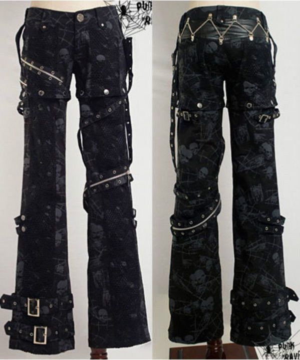 New sexy visual kei PUNK gothic rock removalbe pants Size S to XXL | Clothing, Shoes & Accessories, Women's Clothing, Pants | eBay!