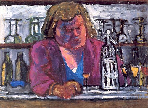 J. Czapski, Al bar, 1956, olio su tela, Museo Nazionale , Varsavia
