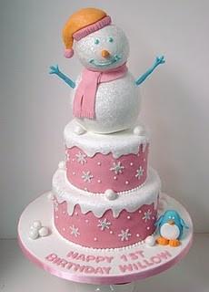 Birthday cakeSnowman Cake, First Birthday Cake, Cake Ideas, Winter Wonderland, Winter Cake, 1St Birthday Cake, Birthday Ideas, Winter Birthday, Birthday Cakes