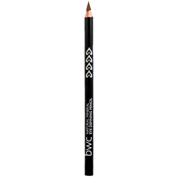 BWC Eye Defining Pencil ($7.45) ❤ liked on Polyvore featuring beauty products, makeup, eye makeup, eyeliner, brown, eye pencil makeup, pencil eye liner, oil free eyeliner and pencil eyeliner
