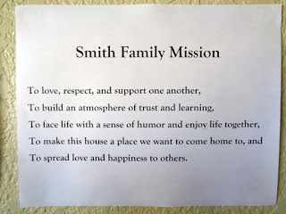 A beautiful description of why the author created a family mission statement, and how it has benefited them day to day. A great read from Nourished and Nurtured.