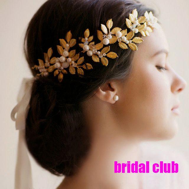 Перл кристалл листья вайн свадьба повязка на голову аксессуары для волос свадебный волосы ювелирные изделия горный хрусталь глава сеть головной убор