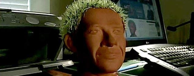 LOUD NOISES!!  Obama Chia pet working at home!!  Looking good, what do you think?