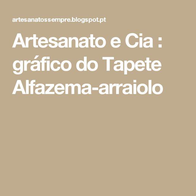 Artesanato e Cia : gráfico do Tapete Alfazema-arraiolo