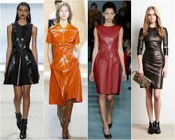 Картинки по запросу Как стильно носить кожаные платья осенью 2017