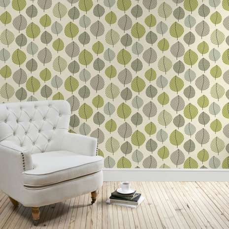 Introduce an elegant touch into your interior with our Regan wallpaper, featuring autumnal green and brown leaves this beautifully crafted wallpaper is a great finishing touch to your décor.