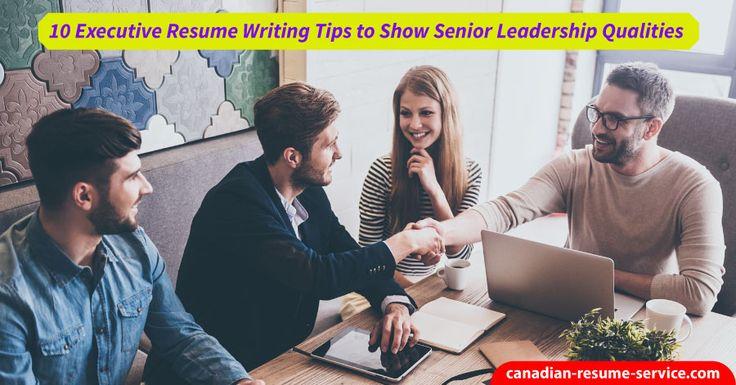 executive resume services canada