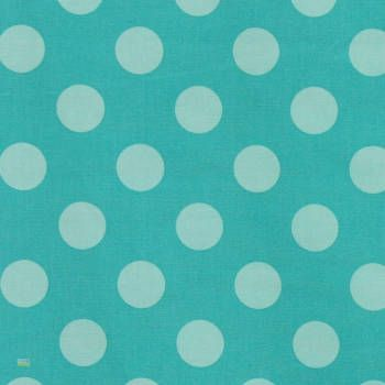 Latest Designer Fabric 'Spot in Turquoise' by Kokka (JPN). Roman blinds and curtains make to order online.