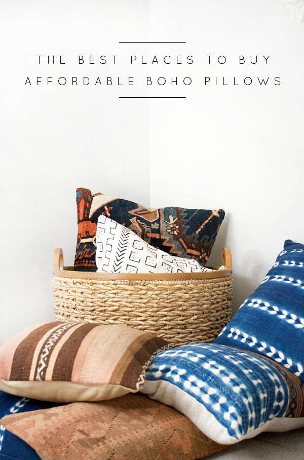 The Best Places to Buy Affordable Boho Pillows (With ...