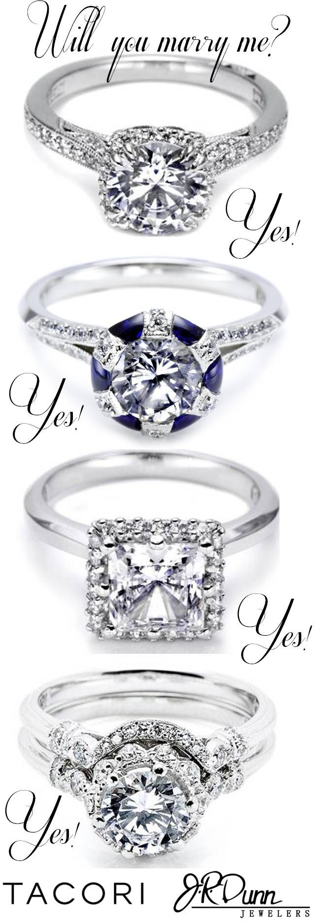 Tacori Rings at J. R. Dunn Jewelers! So much sparkle! Which one is catching your eye?