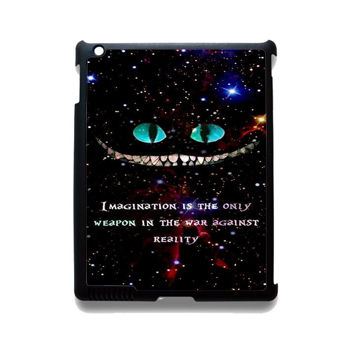 Alice In Wonderland Cheshire Cat Quote Phonecase Cover Case For Apple Ipad 2 Ipad 3 Ipad 4 Ipad Mini 2 Ipad Mini 3 Ipad Mini 4 Ipad Air Ipad Air 2